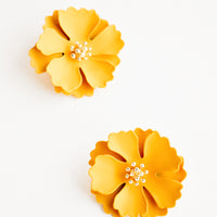 Honey: Blooming Magnolia Earrings in Honey - LEIF