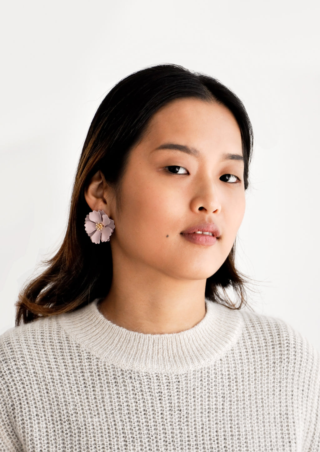 2: Blooming Magnolia Earrings in  - LEIF