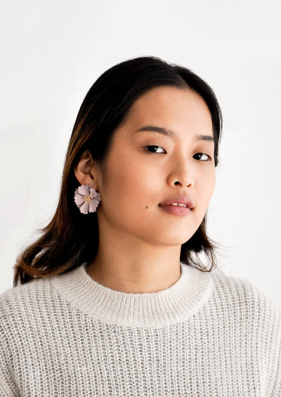 Blooming Magnolia Earrings hover