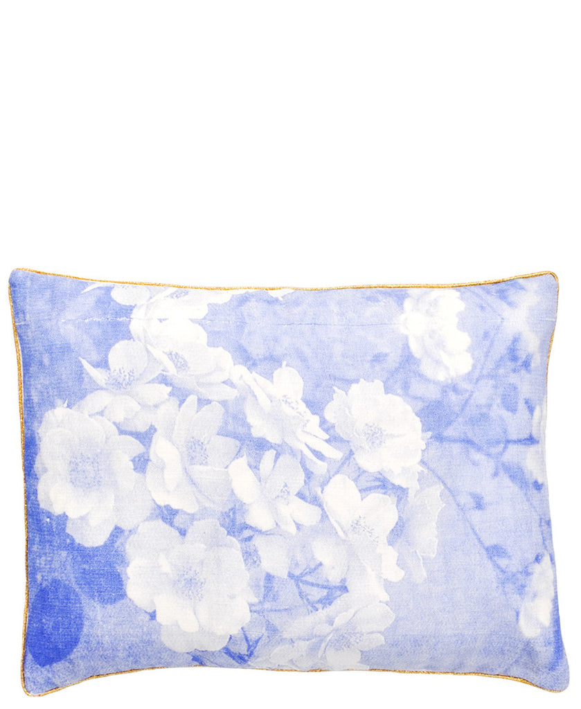 Blueprint Floral Pillow - LEIF