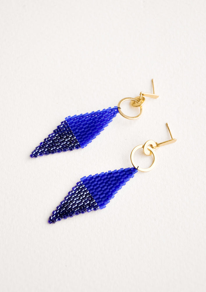 Cobalt: Harlequin Earrings in Cobalt - LEIF