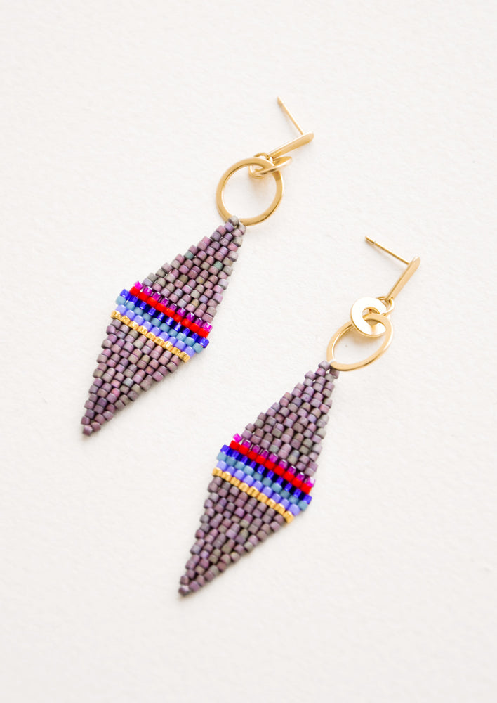 Fig Multi: Harlequin Earrings in Fig Multi - LEIF