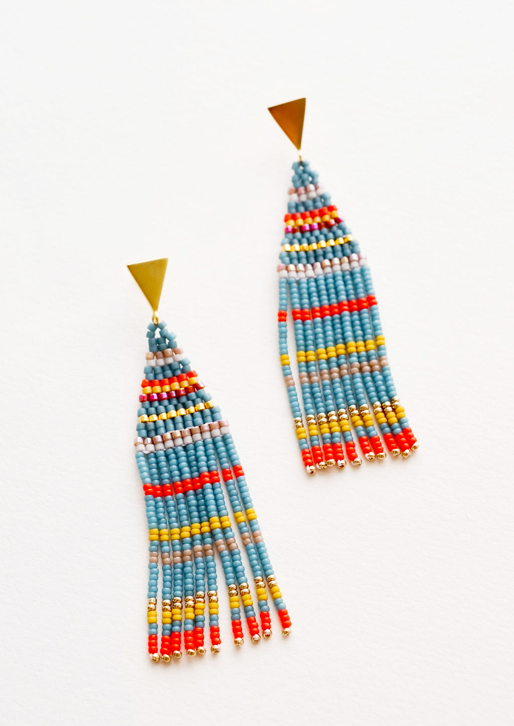Liya Beaded Earrings in Lagoon Multi - LEIF