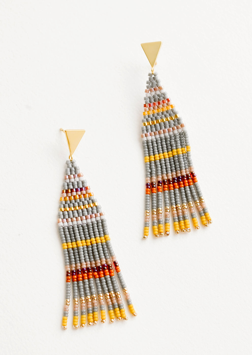Liya Beaded Earrings in Pewter Multi - LEIF