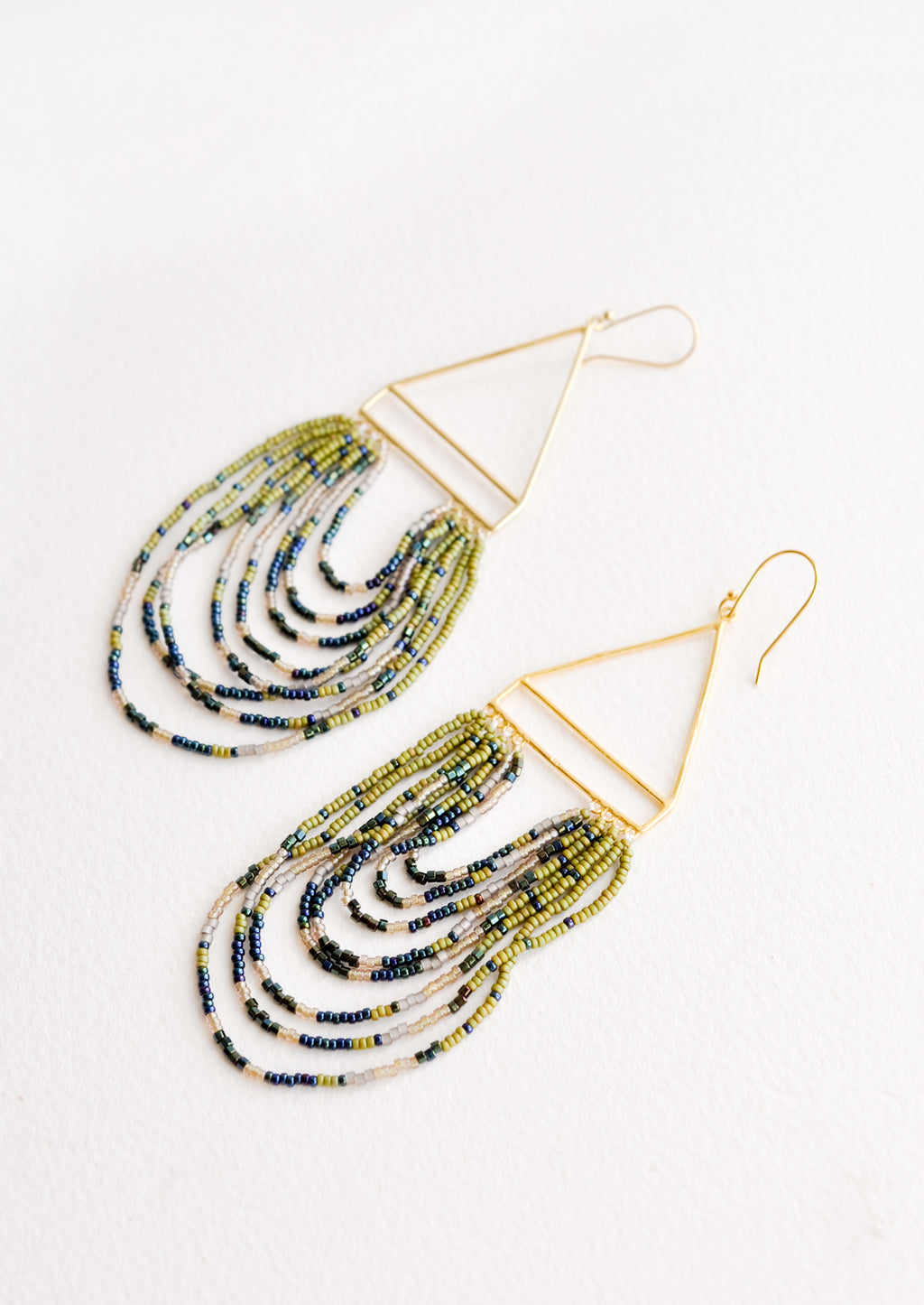 Olive Multi: Soiree Earrings in Olive Multi - LEIF
