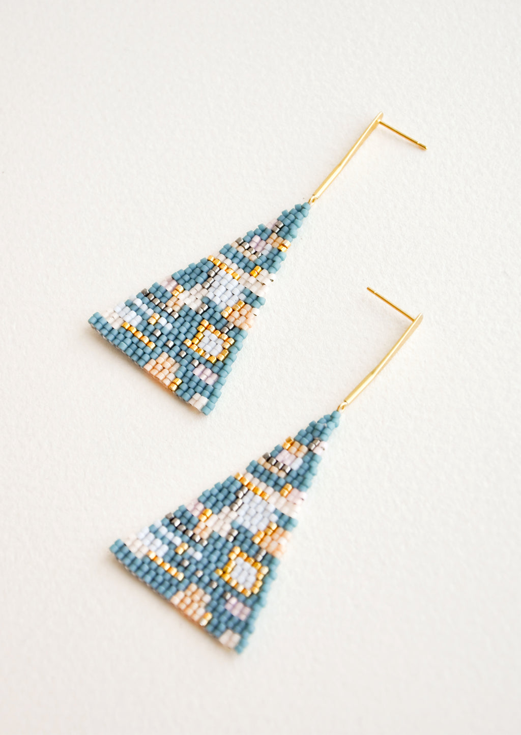 Sea Multi: Treasure Map Earrings in Sea Multi - LEIF