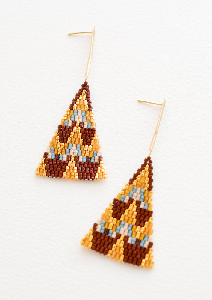 Cacao Multi: Treasure Map Earrings in Cacao Multi - LEIF