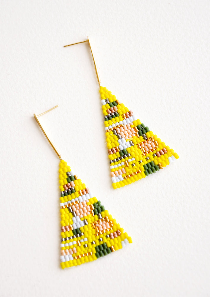 Treasure Map Earrings in Lemon - LEIF