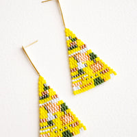Lemon: Treasure Map Earrings in Lemon - LEIF