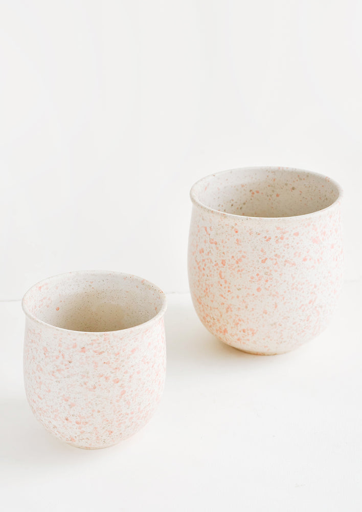 2: Blush Splatters Planter in  - LEIF