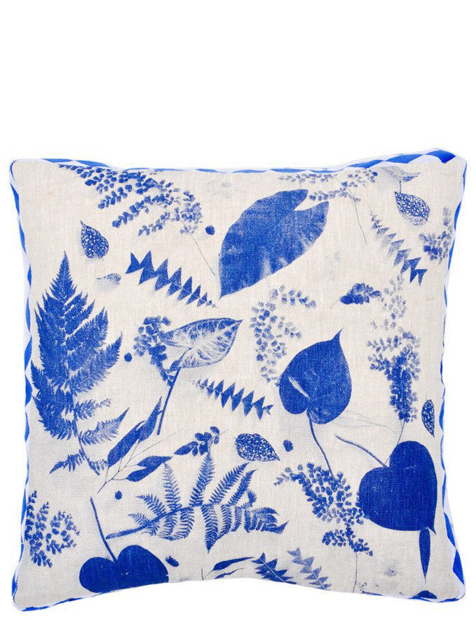 Botanical Cyanotype Pillow, 16""