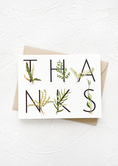 Botanical Thank You Card hover