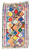 Boucherouite Rug, Bordered Diamonds - LEIF