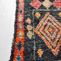 Boucherouite Rug, Dark Diamond - LEIF