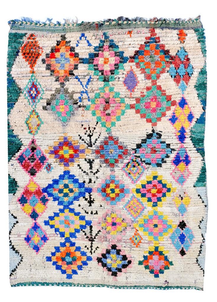 Boucherouite Rug, Painted Diamonds - LEIF