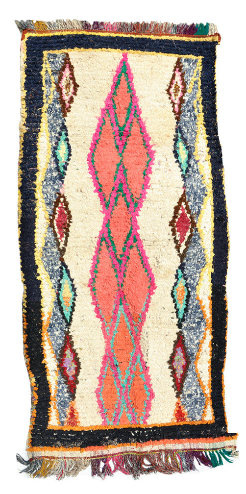 Boucherouite Rug, Pink & Coral River