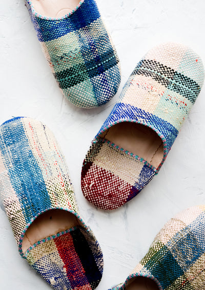 Moroccan Boujad Fabric Slippers hover