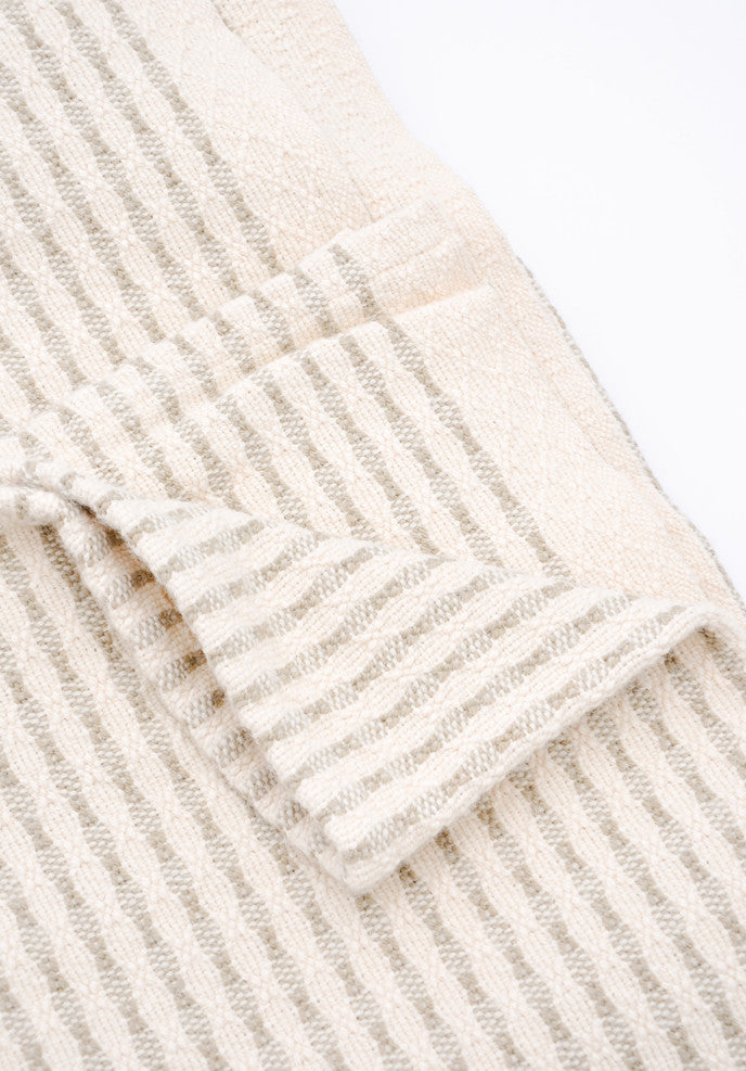 Heritage Stitch Stripe Blanket