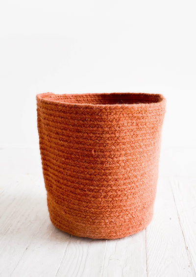 Braided Wool Bin