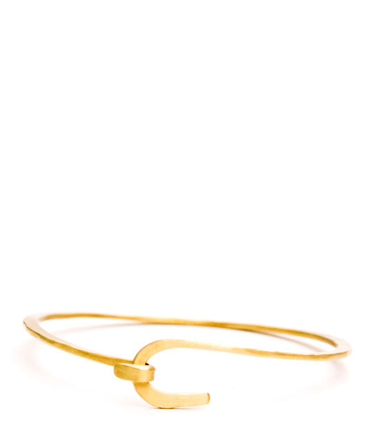 Brass Twist Hook Bracelet - LEIF
