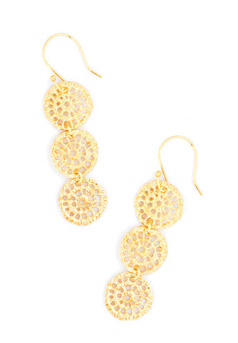 Brass Lace Earrings - LEIF