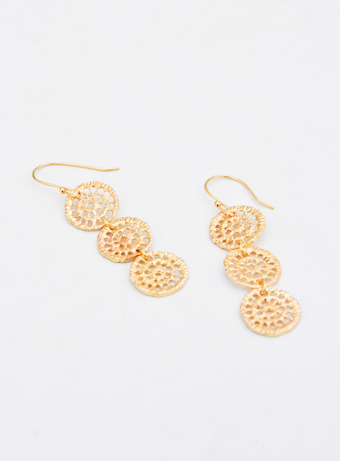 Brass Lace Earrings