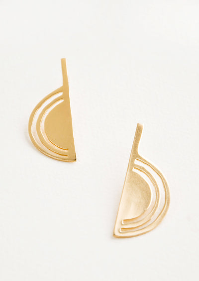 Brass Rainbow Earrings hover