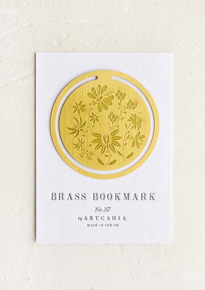 Botanical Brass Bookmark