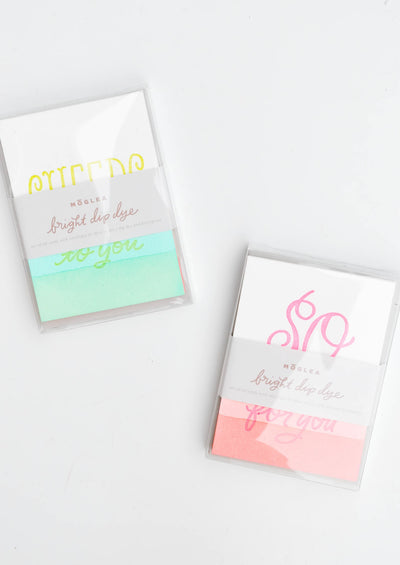 Bright Dip Dye Card Set