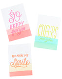 Bright Dip Dye Card Set - LEIF