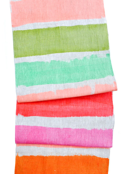 Bright Stripe Table Runner