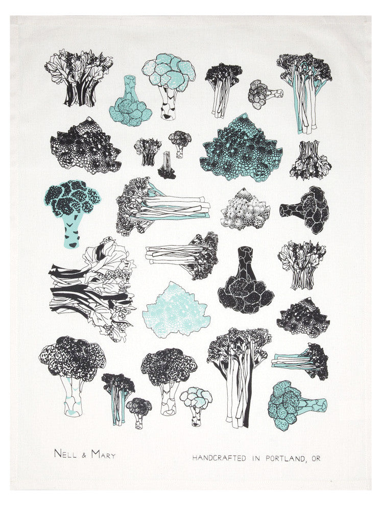 Broccoli Tea Towel