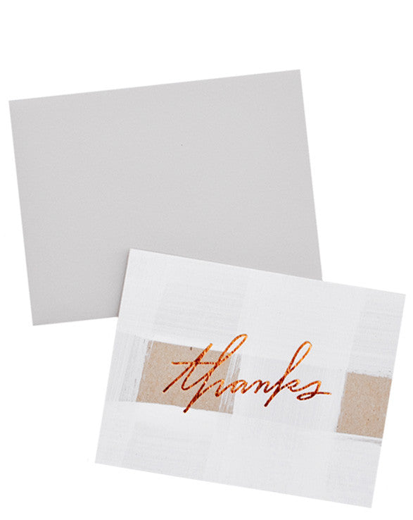 Brushed Thank You Card Set