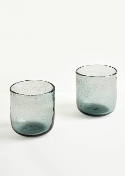 Tinted Bubble Glass Tumbler