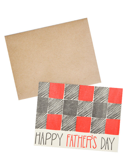 Buffalo Plaid Father's Day Card - LEIF