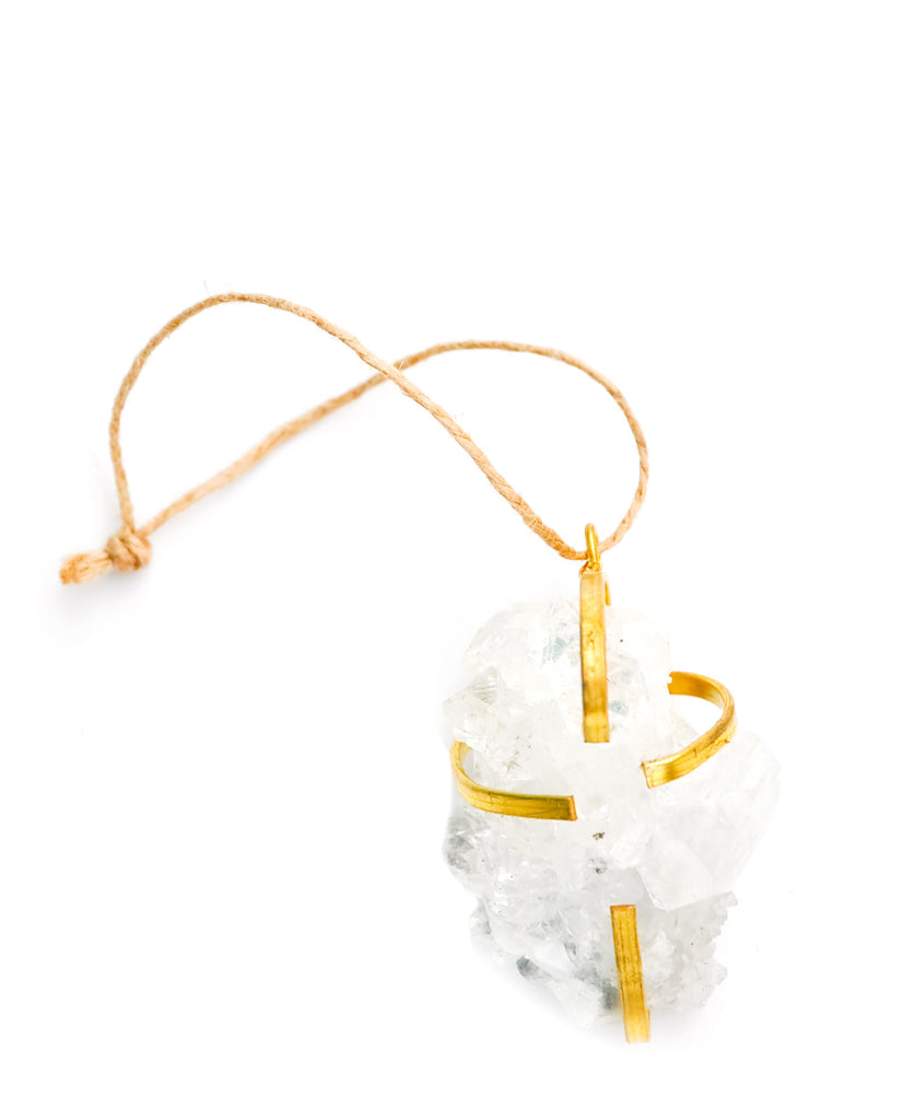 Caged Quartz Ornament - LEIF