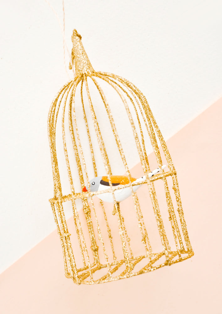 Caged Songbird Ornament
