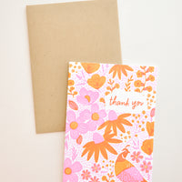 1: California Flora Thank You Card in  - LEIF