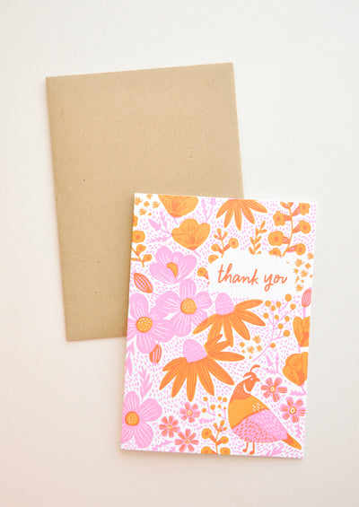 California Flora Thank You Card