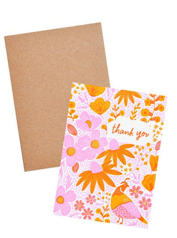 California Flora Thank You Card - LEIF