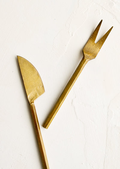 Molten Brass Canapé Utensils