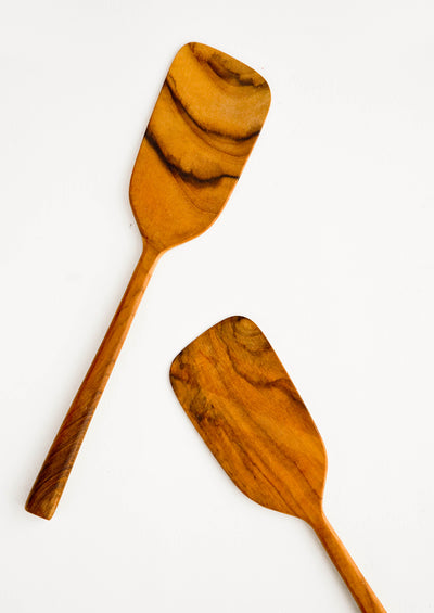 Wooden spatulas made from teakwood