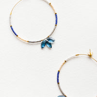 1: Cassi Gem Beaded Hoop Earrings