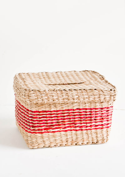 Cecil Seagrass Lidded Basket