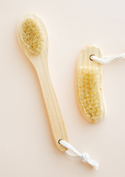 Cedarwood Face + Nail Brushes