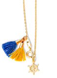Charm & Tassel Necklace in Gold - LEIF
