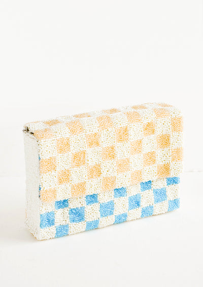 Checkerboard Beaded Clutch