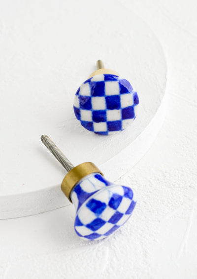 Checkered Ceramic Knob
