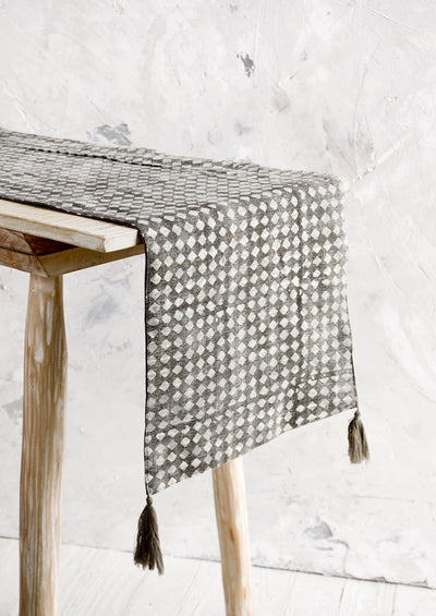 Checkered Triangles Table Runner