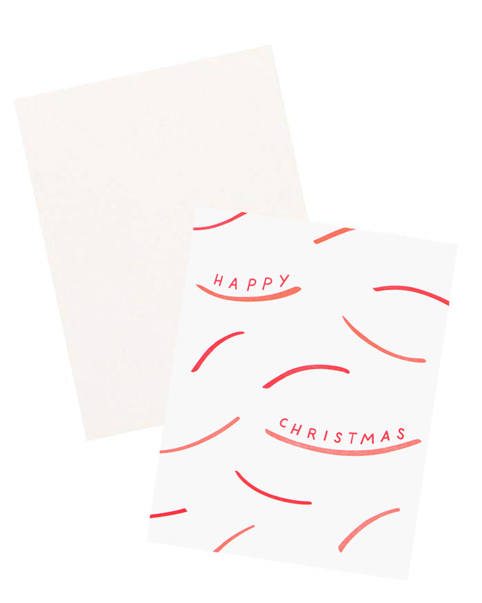 1: Happy Christmas Strokes Card in  - LEIF